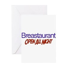 Breastaurant - Open All Night Greeting Card