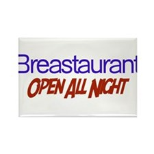 Breastaurant - Open All Night Rectangle Magnet
