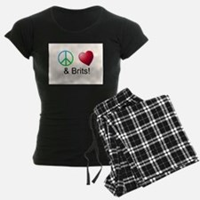Peace Love & Brits Pajamas