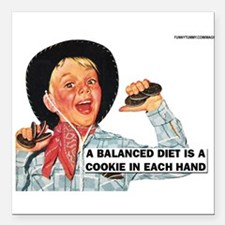 "Balanced Diet Square Car Magnet 3"" x 3"""