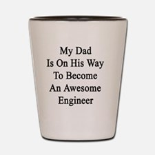 Chemical engineer dad Shot Glass
