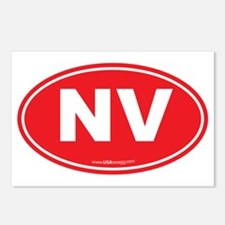 Nevada NV Euro Oval Postcards (Package of 8)