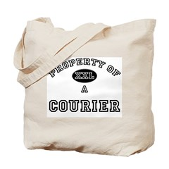 Property of a Courier Tote Bag
