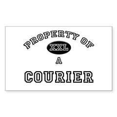 Property of a Courier Rectangle Decal