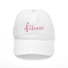 Annie vintage pink ribbon Baseball Cap