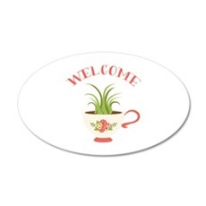 Tea Cup Welcome Wall Decal