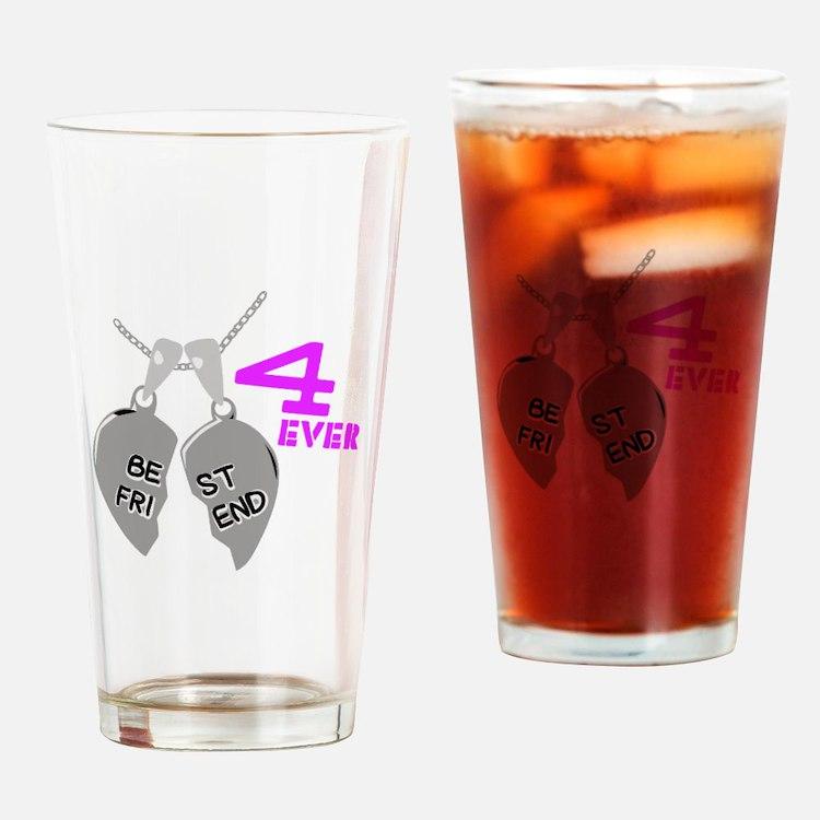 Best Friend 4 Ever Drinking Glass