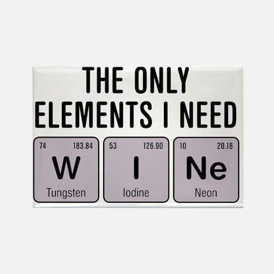 Cute Wine humor Rectangle Magnet