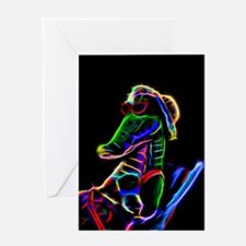 Neon Alligator Greeting Cards