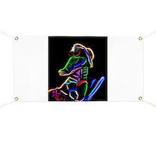 Neon Alligator Banner