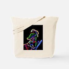 Neon Alligator Tote Bag