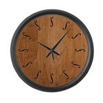 F-Holes Cut-out -1215 Large Wall Clock