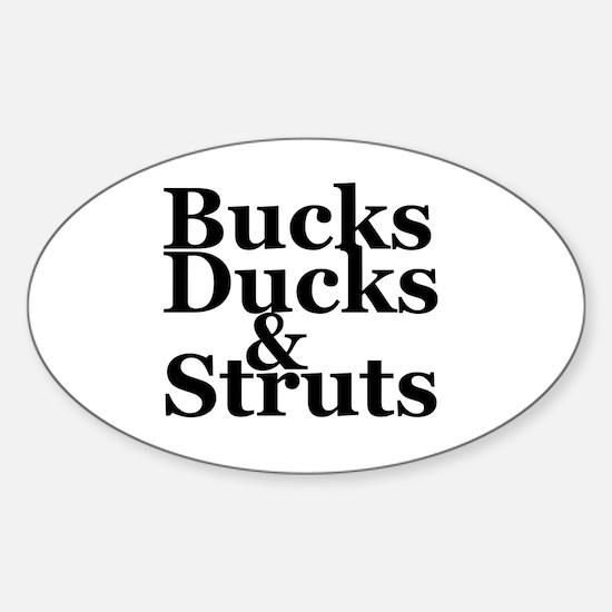 Unique Duck hunting Sticker (Oval)