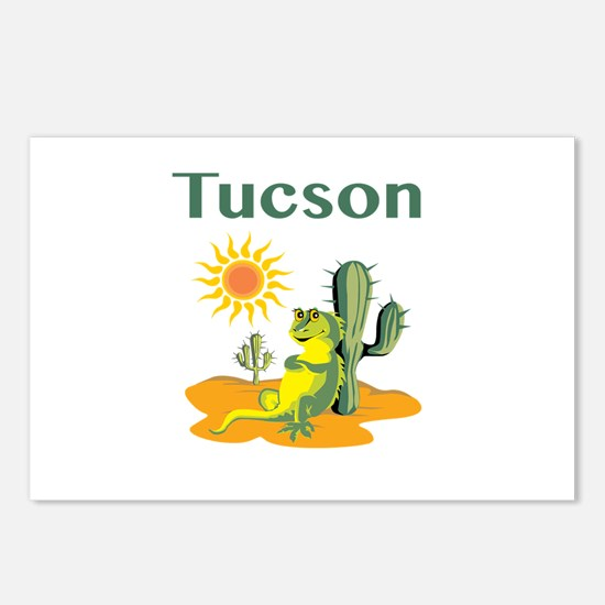 Tucson Lizard Under Postcards (package Of 8)