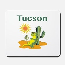 Tucson Lizard Under Cactus Mousepad