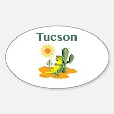 Tucson Lizard Under Cactus Decal