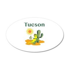 Tucson Lizard Under Cactus Wall Decal