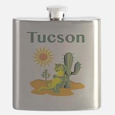 Tucson Lizard under Cactus Flask
