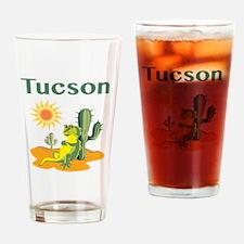 Tucson Lizard under Cactus Drinking Glass