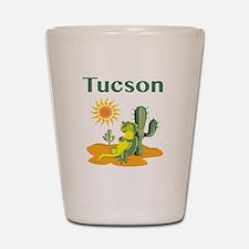 Tucson Lizard under Cactus Shot Glass