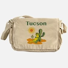 Tucson Lizard under Cactus Messenger Bag