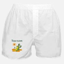 Tucson Lizard under Cactus Boxer Shorts
