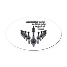 Cute Buddha quote Oval Car Magnet