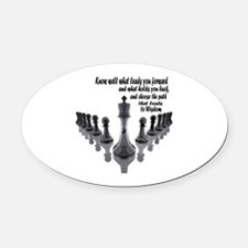 Funny Buddhist Oval Car Magnet