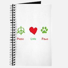 Unique Peace love paws Journal