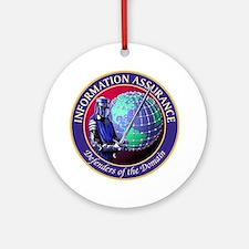 Information Assurance Round Ornament