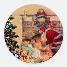 The Night Before Christmas Round Car Magnet