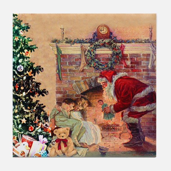 The Night Before Christmas Tile Coaster