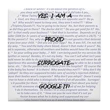 Yes, I am a surrogate... Tile Coaster