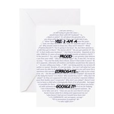 Yes, I am a surrogate... Greeting Card