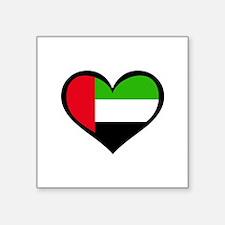 "Cute Uae flag Square Sticker 3"" x 3"""