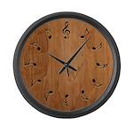 Musical Notation Large Wall Clock