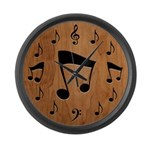 Musical Notation II Large Wall Clock