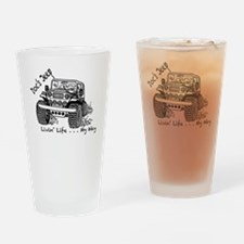 Cute Mud life Drinking Glass