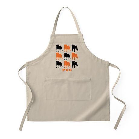 Orange & Black Pugz BBQ Apron
