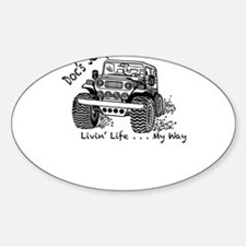 Doc's Jeep and it's Many Adventures Decal