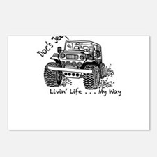 Doc's Jeep and it's Many Postcards (Package of 8)