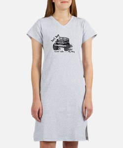 Doc's Jeep and it's Many Advent Women's Nightshirt