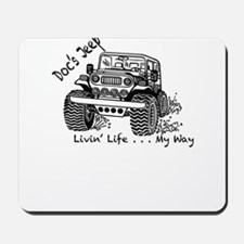 Doc's Jeep and it's Many Adventures Mousepad