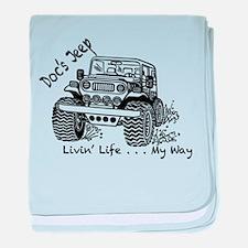 Doc's Jeep Logo baby blanket