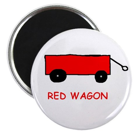 Red Wagon Magnet