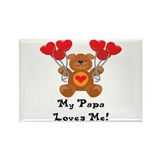 My Papa Loves Me! Rectangle Magnet (10 pack)