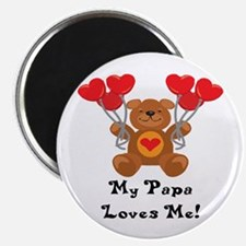 """My Papa Loves Me! 2.25"""" Magnet (10 pack)"""