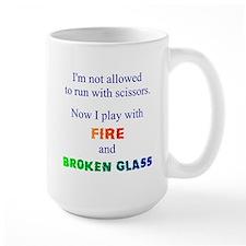 Fire And Broken Glass Mugs