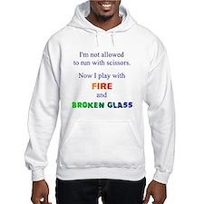 Fire And Broken Glass Hoodie Jumper Hoody