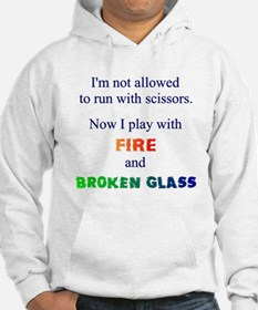 Fire And Broken Glass Hoodie Jumper Hoody